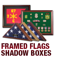 Framed Flags & Shadow Boxes